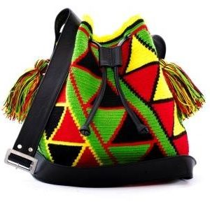 Big wayuu leather bag